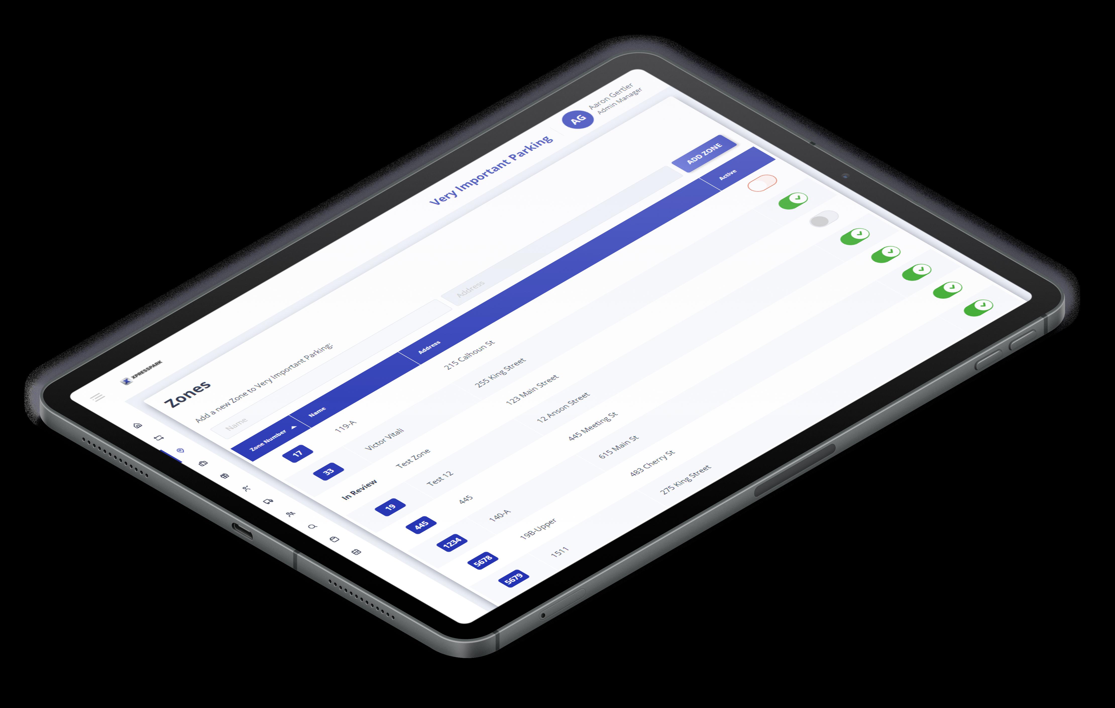 XControl Zones on iPad